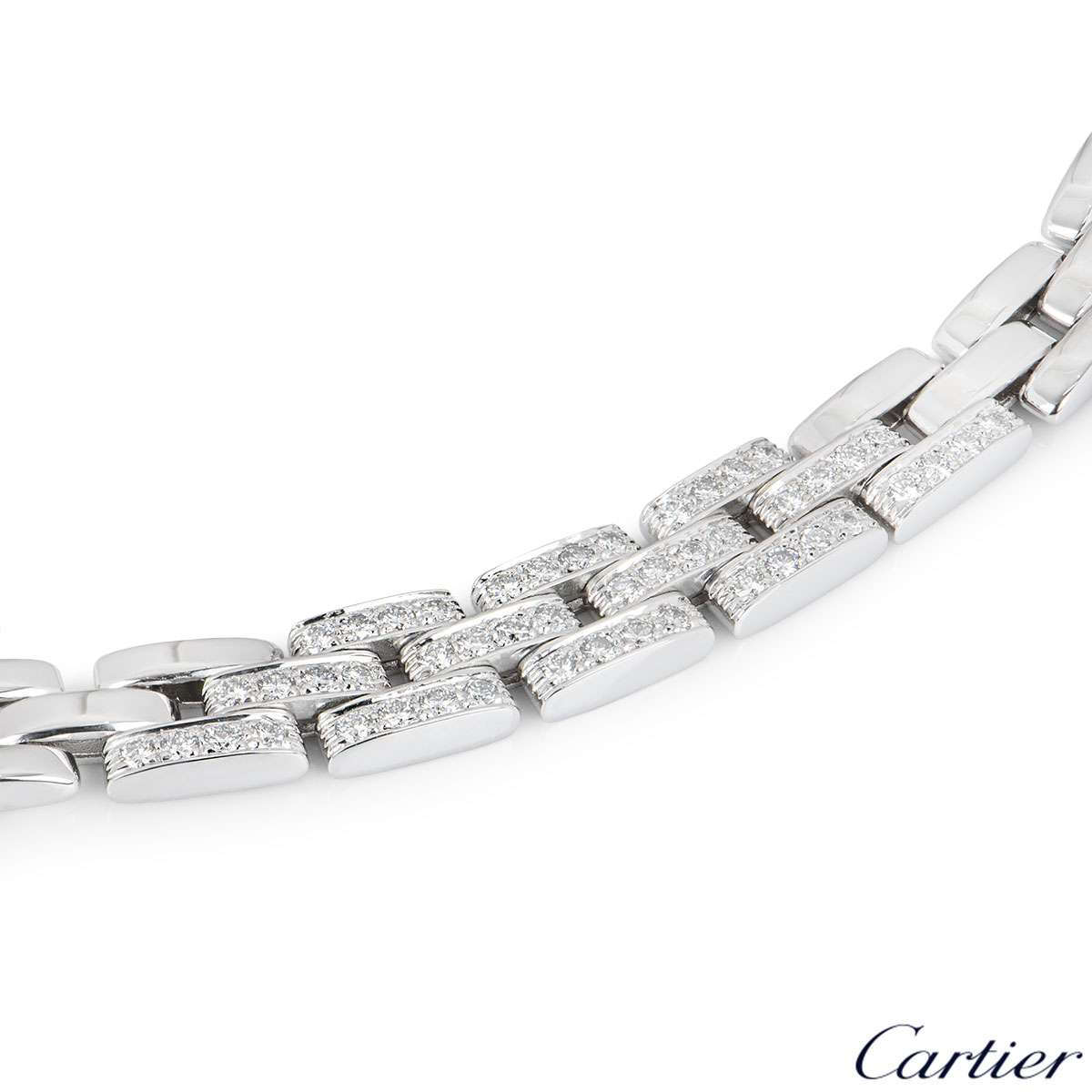 Cartier White Gold Diamond Maillon Panthere Necklace